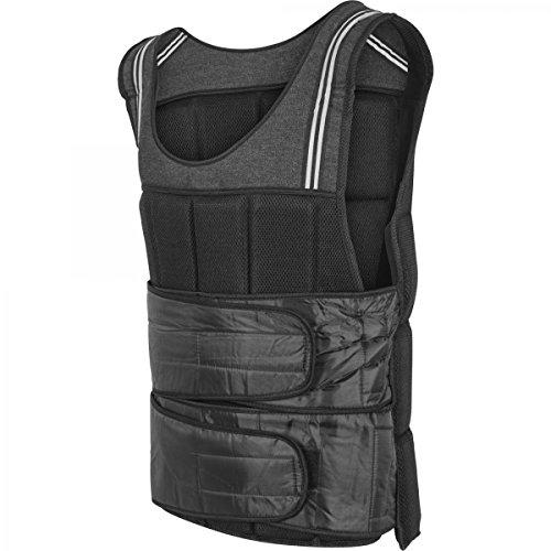GORILLA SPORTS® Gewichtsweste18 kg Schwarz für Fitness und Laufen