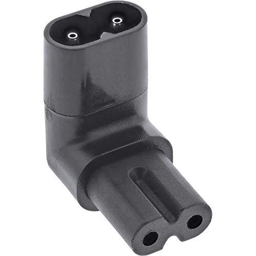 InLine® Netzadapter IEC 60320 C8 / C7, Oben/unten gewinkelt 2pol.
