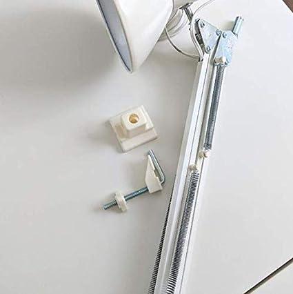 con morsetto a clip e attacco a LED Lampada da lavoro TERZIAL da 81,3 cm regolabile colore: Bianco Ikea a molla