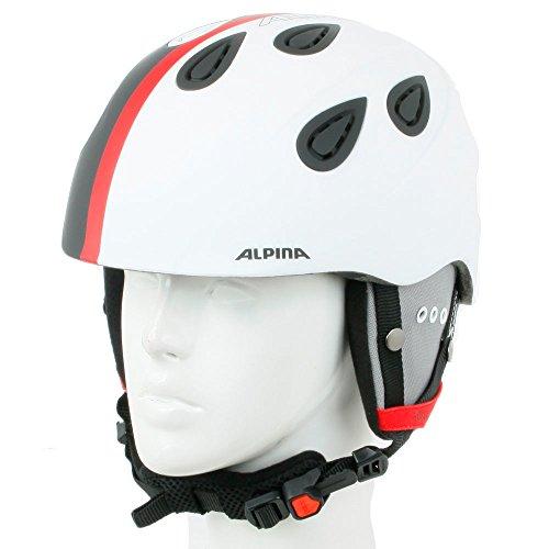 Alpina Unisex - Erwachsene Skihelm Grap 2.0, black white matt, 54-57 cm, 9085211