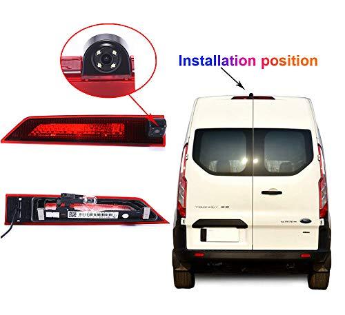 Navinio Auto Dritte Dach Top Mount Bremsleuchte Kamera Bremslicht Einparkkamera Rückfahrkamera IR Licht für Ford Transit Custom 2012-2016