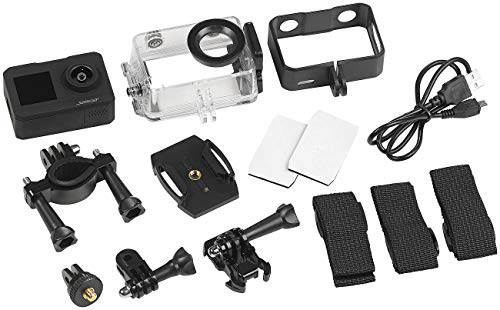 Somikon Zeitraffer Kamera: UHD-Action-Cam mit 2 Displays, WLAN und Marken-Bildsensor, IPX8 (wasserdichte Kamera)