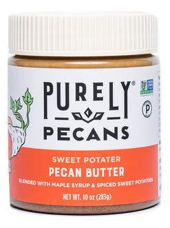 Purely Pecans Natural Pecan Butter - Keto, Paleo, Kosher, Vegan - Gluten-Free - Non-GMO - Smooth Pecan Butter - 10 ounces - Sweet Potato Pie Flavor