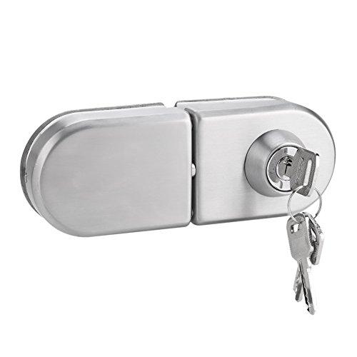 Garsent Cerradura de Puerta de 10~12 mm, Cerradura de