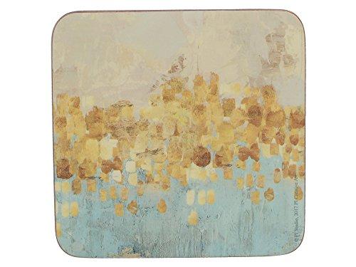 Creative Tops - Sottobicchieri con retro in sughero, 10,5 cm, colore: Oro (Confezione da 6)