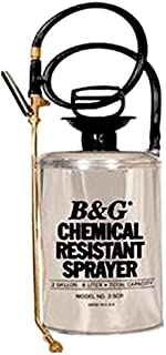 B & G Equipment 12013900 Stainless Steel Chemical Resistant Sprayer, 2 gals, Fan Tip, 18