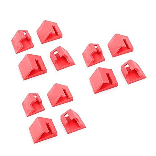 YUYAOYAO Manejar Clips de Tailgate, manija de Arranque Los Clips de reparación diseñados, Accesorios para automóviles adecuados para Nissan Fit para Qashqai (2006-2013) (Color : Red)