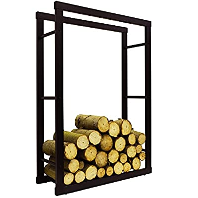 WATSONS ONIDA - Metal 70cm Wide Fireside Log Storage Rack - Black