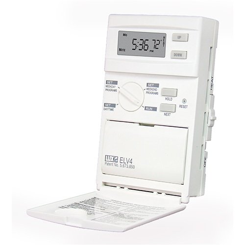 ELV4 Lux Products Line Voltage Programmable - Heat Only - Single or Double Pole Thermostat