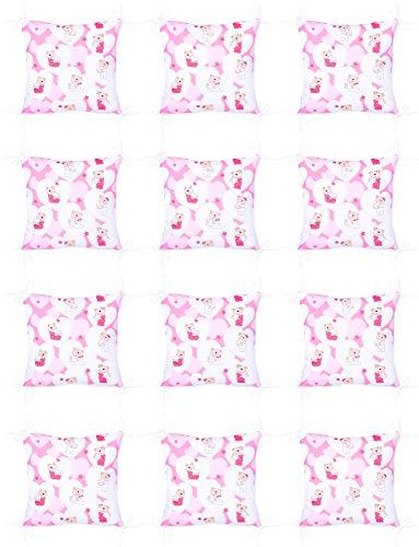 Amilian Baby Nestchen Bettumrandung 420 cm x 35 cm Bettnestchen Kantenschutz Kopfschutz für Babybett Bär mit Herzen Rosa