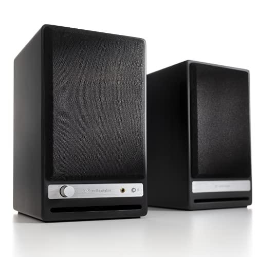 Audioengine HD3 Wireless Speaker | Desktop Monitor Speakers | Home Music System aptX HD Bluetooth, 60W Powered Bookshelf Stereo Speakers, AUX Audio, USB, RCA Inputs/Outputs, 24-bit DAC (Black)