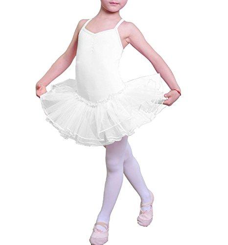 iMixCity Ragazza Leotard Vestito Tutu Balletto Dancewear Body Ginnastica Abbigliamento 3-12 Anni