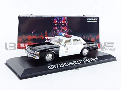 1987 Chevy Caprice Metropolitan Police Black and White Terminator 2: Judgment Day (1991) Movie 1/43 Diecast Model Car by Greenlight 86582 -  GREENLIGHT COLLECTIBLES, GRL86582