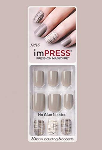Kiss imPress Press-On Manicure Nails 72044 Boss Lady (Tweed Accent Nails)