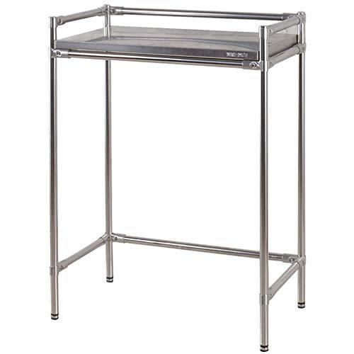 Rejilla para lavadora Baño de baño Balcón bastidor de almacenamiento, estante de lavadora de acero inoxidable, soporte de baño grueso y duradero, estante de lavadora de acero al carbono de una sola ca