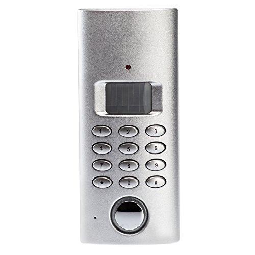 KOBERT GOODS – drahtloser Tür-, Fenster- oder Vitrinenalarm SP61 Einsatz als Alarmanlage, Einbruchsschutz, Home-Security Mit PIN-Code-Eingabe, Alarmanruf/ automatischer Wahlfunktion sowie 130 db-Alarm [Energieklasse A]