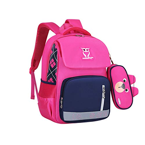JHMAOYI New Backpack Male And Female Primary School Children'S Schoolbag Multifunctional Hit Color Backpack