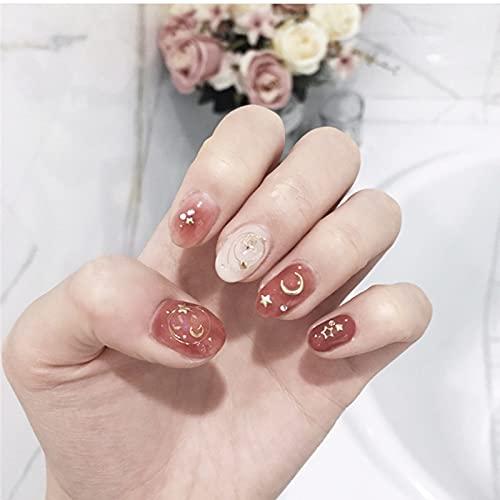 LYDP Tiritas de uñas falsas desmontables portátiles blanqueantes de caramelo para novia...