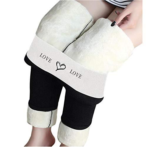 BIBOKAOKE Pantalon d'hiver chaud pour femme - Doublure thermique - Pantalon de jogging - Pantalon thermique pour femme - Grandes tailles - Pantalon de yoga élastique pour l'automne et l'hiver