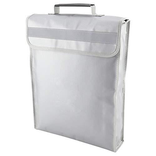 Diseño humanizado práctico y práctico bolsa de objetos de valor ignífugos para documentos importantes, resistente al agua.
