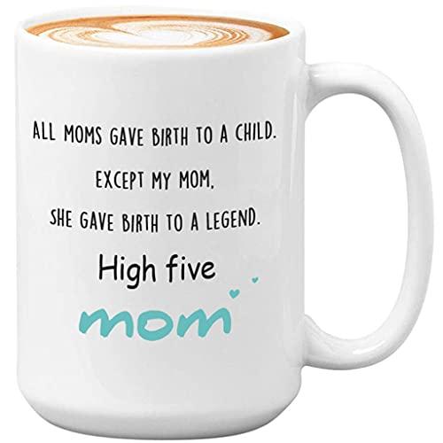 Regalo para Madre Taza de Porcelana con asa, Taza de té de café con Letras Taza de cerámica para Oficina en casa Regalo en el Día de la Madre o Navidad. (Capacity : 430ml, Color : Blanco)