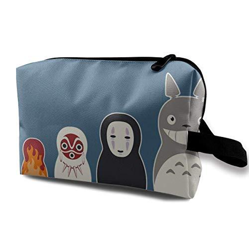 Makeup Bag Cosmetic Pouch Studio Ghibli Rusn Dolls Multi-Functional Bag Travel Storage Bag