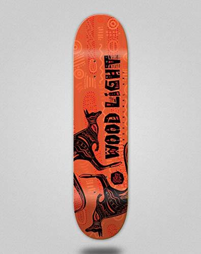 Wood light Monopatín Skate Skateboard Deck Tabla Aborigal au (8.0)