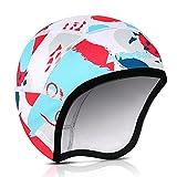 HIKENTURE Bonnet de vélo d'hiver pour enfant, bonnet de vélo sous casque, bonnet d'hiver sous casque, casque de vélo pour enfant, casque d'équitation, casque de ski, chauffe-oreilles