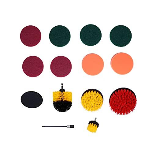 RBSD Kit de Cepillo de Taladro, Kit de Almohadillas de fregado giratorias, Resistente, práctico y Duradero