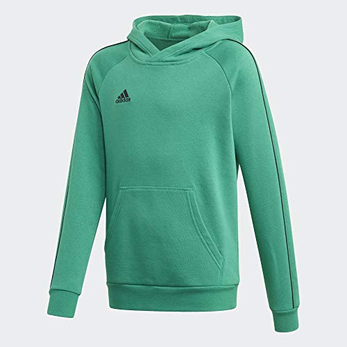 adidas Kinder Core 18 Hoody, bold green/Black, M (Manufacturer size:140)