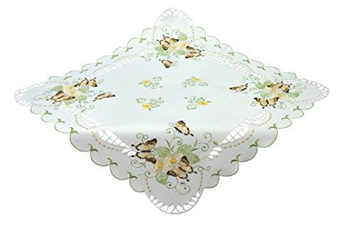 Bellanda Tischdecken, Polyester, weiß, 85x85x0.5 cm