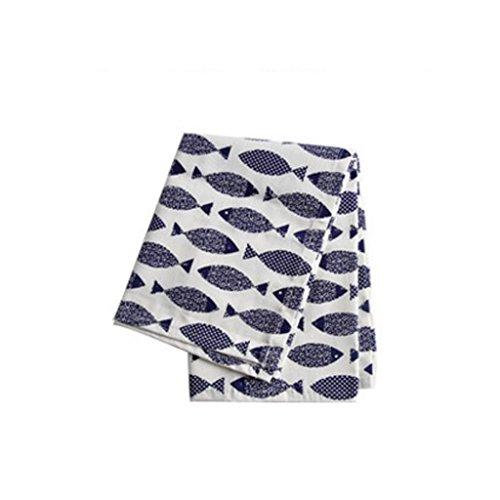 MXJ61 Coton créative de Tissu de Bouche de Coton imprimant Le Tissu 60 * 40cm de Serviette (Taille : 1 Pcs)