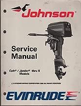 1989 OMC EVINRUDE JOHNSON COLT/JUNIOR T0 8 SERVICE MANUAL P/N 507753 (449)