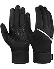 VBIGER Löparhandskar unisex pekskärm vinter varma handskar halkfria handskar för löpning vandring cykling utomhussport