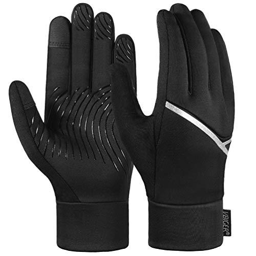 VBIGER Winterhandschuhe Herren Damen Frauen rutschfest Tactile mit Touchscreen zum Laufen Handschuhe Radfahren Motorrad Sport. (L)