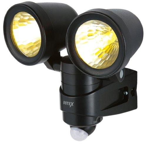 ムサシ RITEX センサーライト(ハロゲン球100W×2灯) R-200N