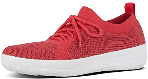 FitFlop F-Sporty Uberknit Sneakers, Zapatillas para Mujer, Rojo (Pass Red Mix 702), 36 EU