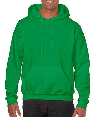 Gildan Men's Heavy Blend Fleece Hooded Sweatshirt G18500, Irish Green, Medium