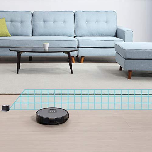 ZACO V85 Saugroboter mit Wischfunktion, App & Alexa Steuerung, 8cm flach, automatischer Staubsauger Roboter, 2in1 Wischen oder Staubsaugen, für Hartböden, Fallschutz, mit Ladestation - 7