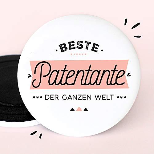 Kühlschrankmagnete für Patentante   Beste patentante der ganzen Welt   55mm Magnet   Geburt - Taufpatin fragen - Schwangerschaft verkünden - Patentante fragen