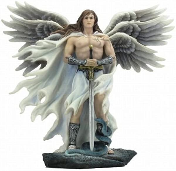 11 Inch Six Winged Guardian Angel Statue With Serpent Figure Catholic Decor By Verones