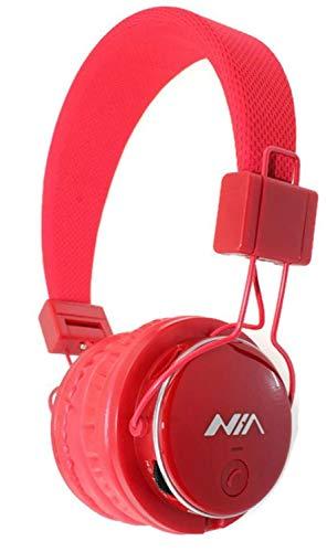 LG Snow QWEE T-009 Plegable Bluetooth Auricular inalámbrico de Auriculares con micrófono, Tarjeta Micro SD/TF, Radio de FM, estéreo de 3,5 mm de Cable Desmontable de Manos Libres for el teléfono móv