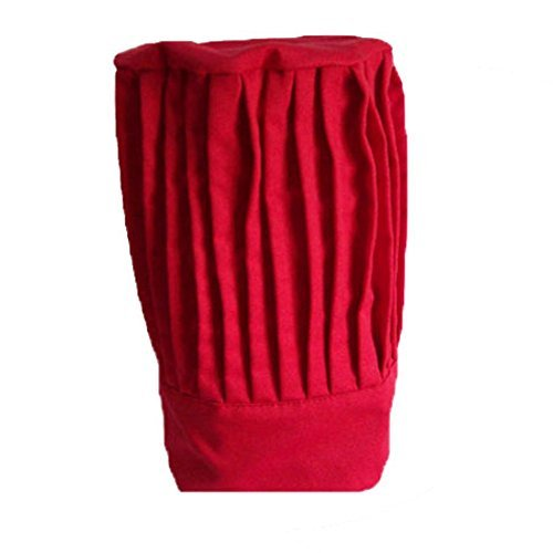 """Tall Chef Hat in Red - 15"""" Tall"""