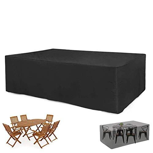 XGG Funda para Mesa Jardin Fundas Muebles Exterior Cubierta de Muebles de Jardín Impermeable 210D Poliéster Resistente al Polvo Anti-UV Funda Protectora para Muebles de Jardín137.8 * 102.36 * 27.55in