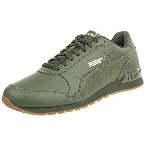 Puma ST Runner v2 Full L Unisex Sneaker Schuhe 365277 10 grün, Schuhgröße:44.5 EU