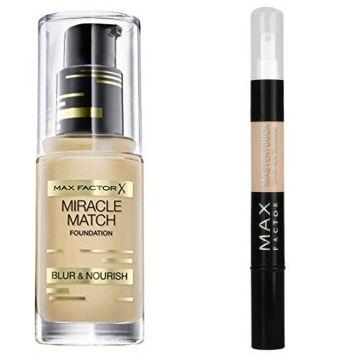 Max Factor Miracle Match Foundation 55 Beige plus Max Factor Mastertouch Concealer 306 Fair