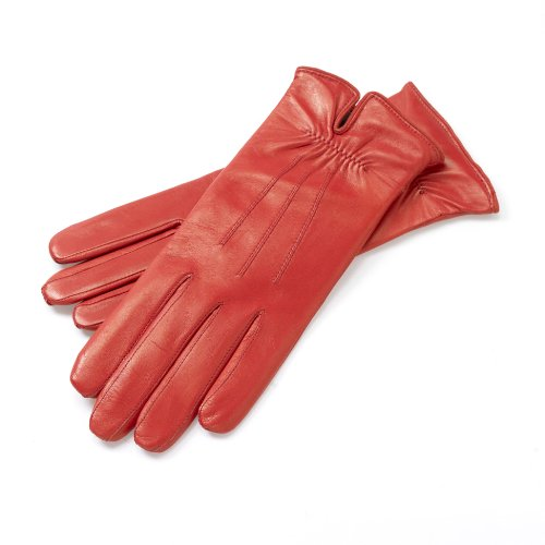 Roeckl Damen Handschuh Klassiker - Gerafft 13011-220, Gr. 6.5, Rot (450)