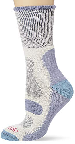 Bridgedale Hike Lightweight Cotton Cool Comfort Socks, Calzini Donna, Colore: Blu fumé, L