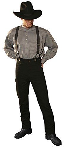 Stars & Stripes Old Style Westernhose Dillon - Authentische Authentic Vintage Oldstyle Westernkleidung Westernbekleidung Schwarz (40 Inches (100 cm))