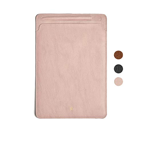 Suritt for iPad Natural Leather Sleeve Corteccia (3 Colors Available). (iPad, Pink)